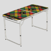 Clan Buchanan Tartan Beer Pong Table