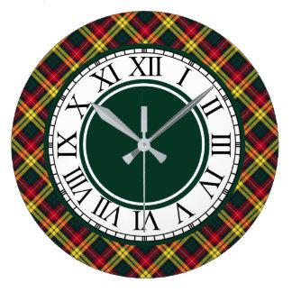 Clan Buchanan Tartan Border Large Clock