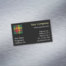 Clan Buchanan Tartan Business Card Magnet