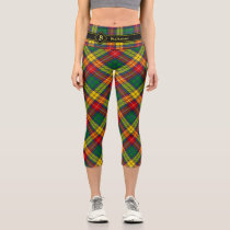 Clan Buchanan Tartan Capri Leggings
