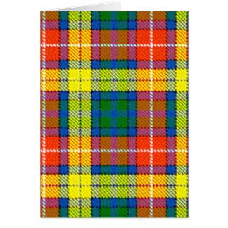 Clan Buchanan Tartan Card