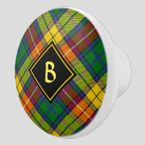 Clan Buchanan Tartan Ceramic Knob