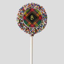 Clan Buchanan Tartan Chocolate Covered Oreo Pop