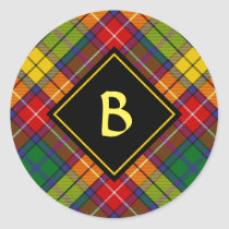 Clan Buchanan Tartan Classic Round Sticker