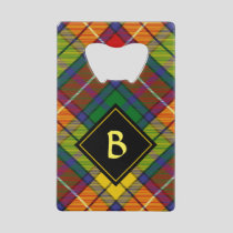Clan Buchanan Tartan Credit Card Bottle Opener