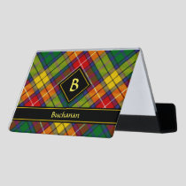 Clan Buchanan Tartan Desk Business Card Holder