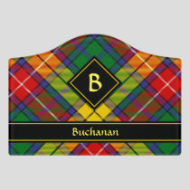 Clan Buchanan Tartan Door Sign