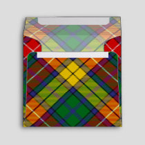 Clan Buchanan Tartan Envelope