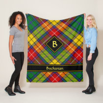 Clan Buchanan Tartan Fleece Blanket