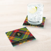 Clan Buchanan Tartan Glass Coaster