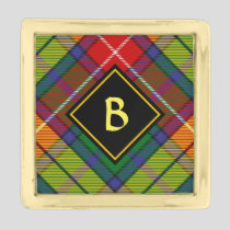 Clan Buchanan Tartan Gold Finish Lapel Pin