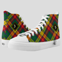 Clan Buchanan Tartan High-Top Sneakers