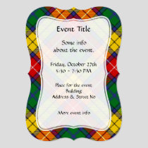 Clan Buchanan Tartan Invitation