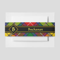 Clan Buchanan Tartan Invitation Belly Band