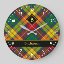 Clan Buchanan Tartan Large Clock