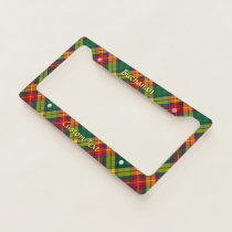 Clan Buchanan Tartan License Plate Frame