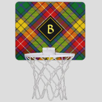 Clan Buchanan Tartan Mini Basketball Hoop