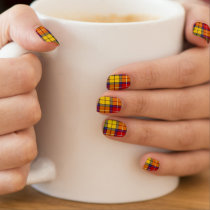 Clan Buchanan Tartan Minx Nail Art