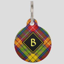 Clan Buchanan Tartan Pet ID Tag