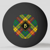 Clan Buchanan Tartan Ping Pong Ball