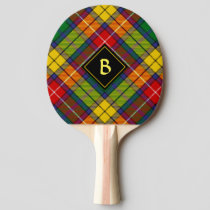 Clan Buchanan Tartan Ping Pong Paddle