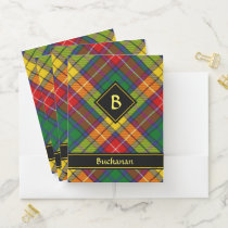 Clan Buchanan Tartan Pocket Folder