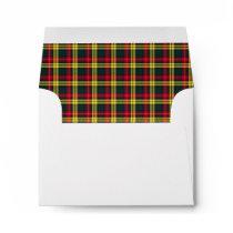 Clan Buchanan Tartan Red, Green and Yellow Plaid Envelope
