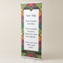 Clan Buchanan Tartan Retractable Banner