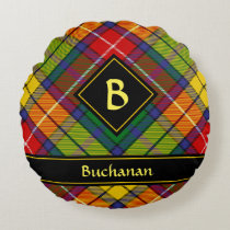 Clan Buchanan Tartan Round Pillow