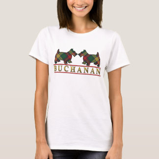 Clan Buchanan Tartan Scottie Dogs T-Shirt