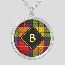 Clan Buchanan Tartan Silver Plated Necklace