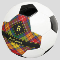 Clan Buchanan Tartan Soccer Ball