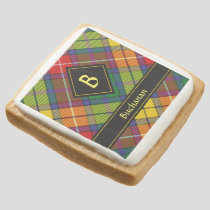 Clan Buchanan Tartan Square Shortbread Cookie