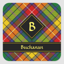 Clan Buchanan Tartan Square Sticker