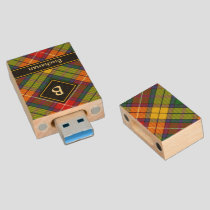 Clan Buchanan Tartan Wood Flash Drive