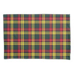 Clan Buchanan Yellow, Green and Red Scottish Plaid Pillow Case