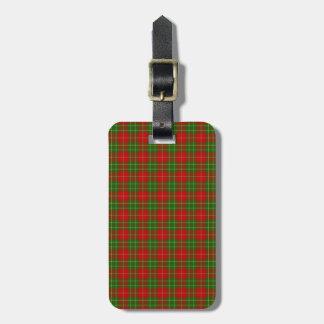 Clan Burnett Tartan Luggage Tag