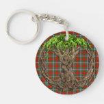 Clan Caledonia y árbol de la vida céltico Llaveros