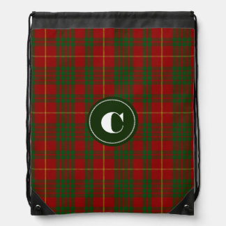 Clan Cameron Tartan Plaid Monogram Backpack