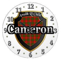 Clan Cameron Tartan Scottish Dream Clock