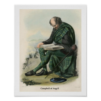 Clan Campbell de Argyll Posters