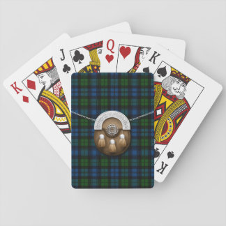 Clan Campbell Military Tartan And Sporran Playing Cards