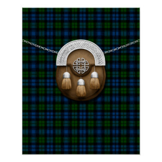 Clan Campbell Military Tartan And Sporran Poster