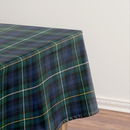 Clan Campbell Navy Blue And Green Scottish Tartan