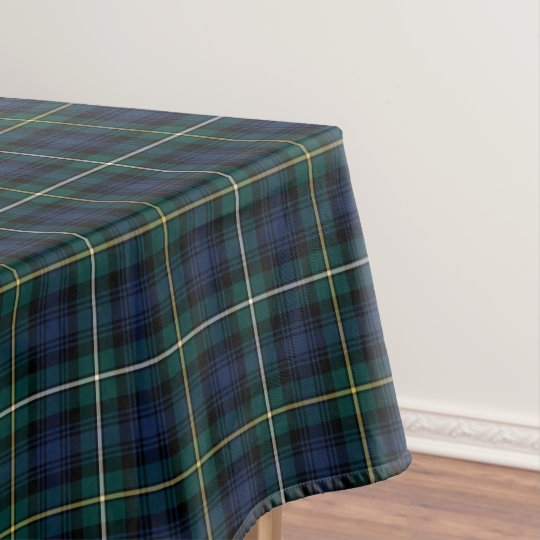 Ordinaire Clan Campbell Navy Blue And Green Scottish Tartan Tablecloth