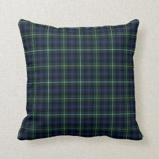 Clan Campbell Navy Blue and Green Scottish Tartan Throw Pillow