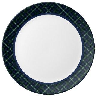 Clan Campbell of Argyll Tartan Porcelain Plates