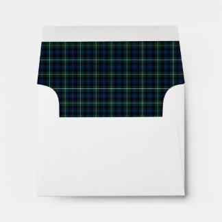 Clan Campbell of Argyll Tartan Navy Blue Plaid Envelope