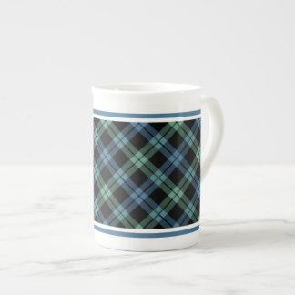 Clan Campbell of Loch Awe Tartan Blue Plaid Tea Cup