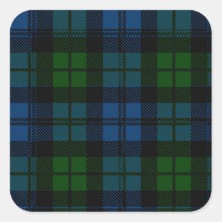 Clan Campbell Tartan Square Sticker